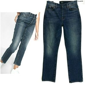 7 FOR ALL MANKIND Edie high waist cropped jeans 26